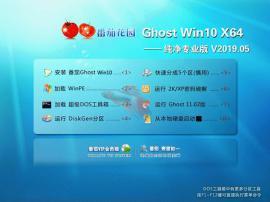 番茄花园 Win10 64位 纯净专业版系统 V2019.05
