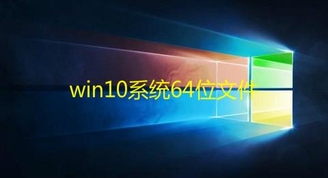 win10系统64位文件