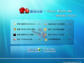 番茄花园 Ghost Win10 32位 游戏专用版 V2020.04